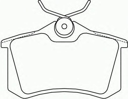 Колодки тормозные дисковые, 4 шт Textar 23554012355401