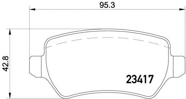 Колодки тормозные дисковые, 4 шт Textar 23417022341702