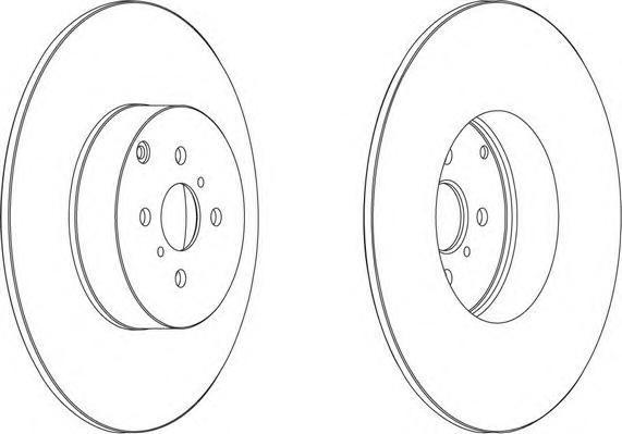 Диск тормозной задний Ferodo DDF1417 комплект 2 штDDF1417