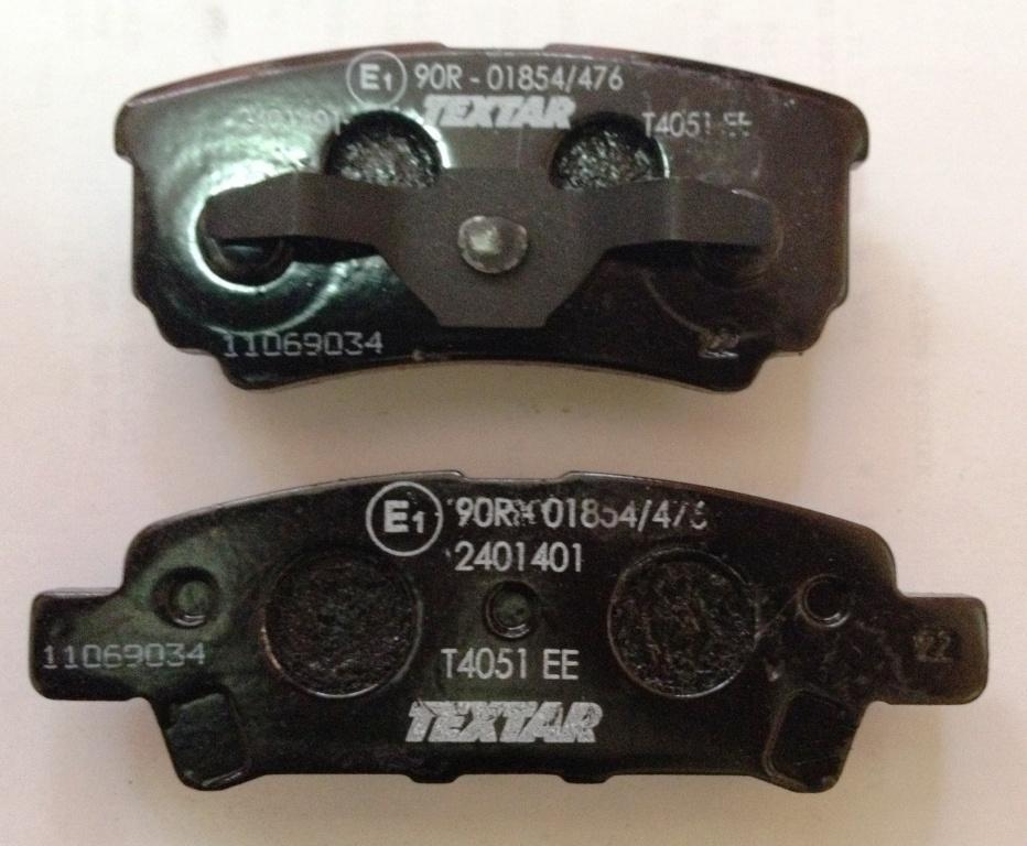 Колодки тормозные дисковые, 4 шт Textar 24014012401401