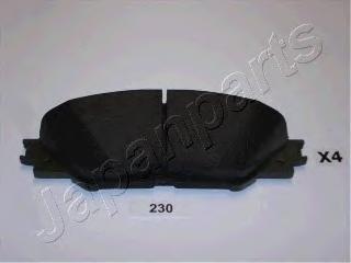 Колодки тормозные дисковые Japanparts PA230AFPA230AF