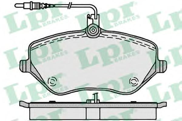 Колодки тормозные передние LPR / AP 05P120205P1202