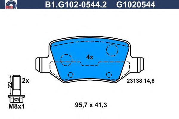 Колодки тормозные Galfer B1G10205442B1G10205442