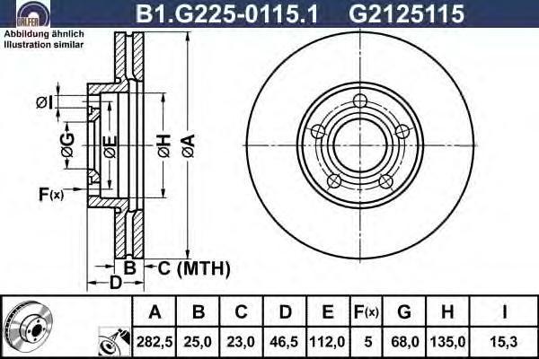Диск тормозной Galfer B1G22501151 комплект 2 штB1G22501151