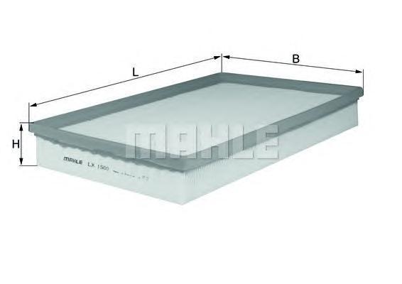 Фильтр воздушный Mahle/Knecht LX1500LX1500