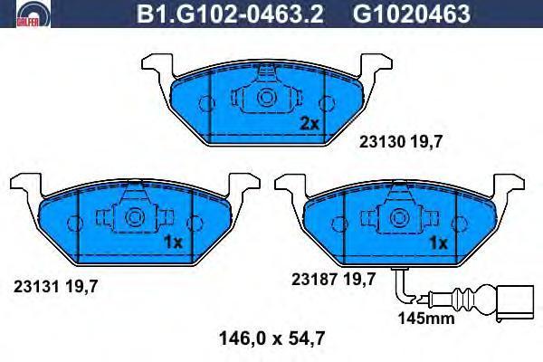 Колодки тормозные дисковые Galfer B1G10204632B1G10204632
