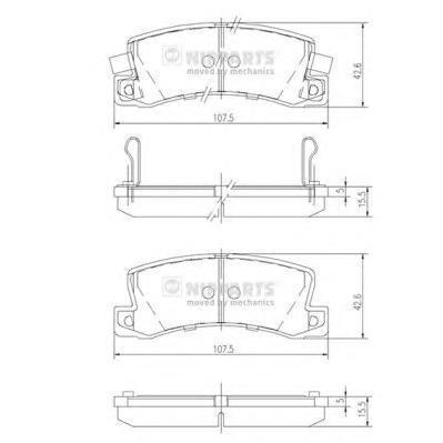 Колодки тормозные задние Nipparts J3612013J3612013