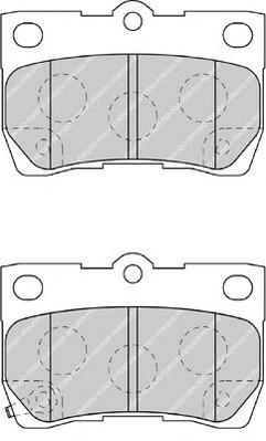 Колодки тормозные дисковые Premier Ferodo FDB4001FDB4001