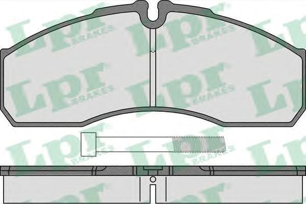 Колодки тормозные передние LPR / AP 05P146205P1462