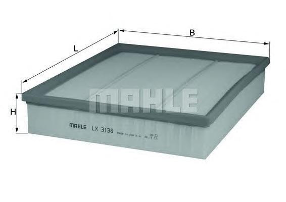 Фильтр воздушный Mahle/Knecht LX3138LX3138