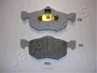 Колодки тормозные дисковые Japanparts PA322AFPA322AF