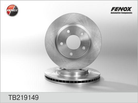 Диск тормозной Fenox TB219149 комплект 2 штTB219149