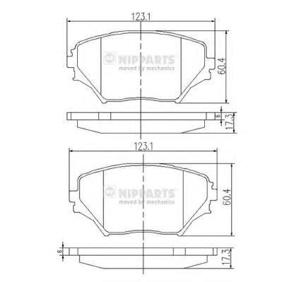Колодки тормозные передние Nipparts J3602095J3602095