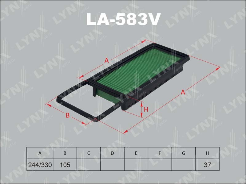 Фильтр воздушный Lynx LA583VLA583V