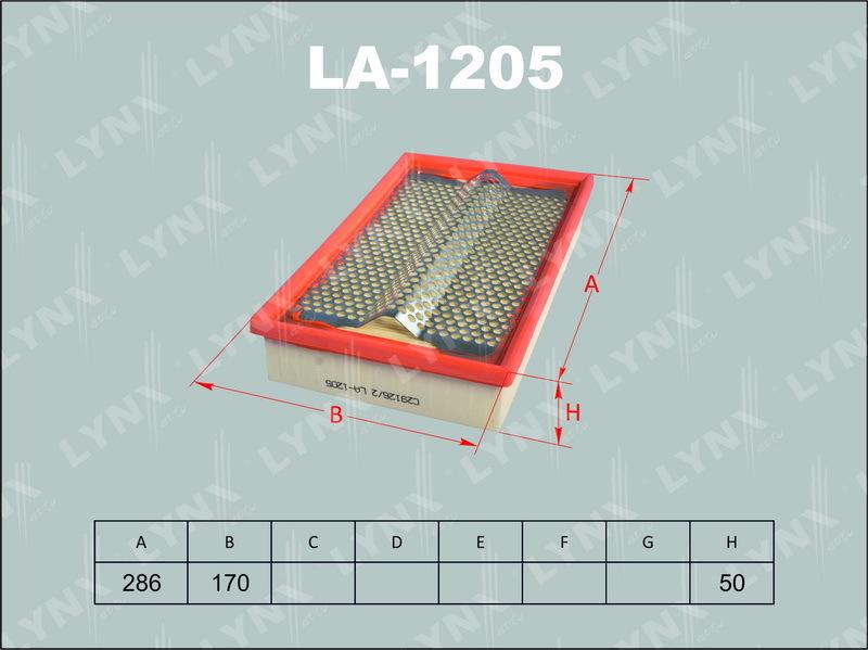Фильтр воздушный Lynx LA1205LA1205