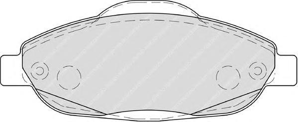 Колодки тормозные дисковые Premier Ferodo FDB4003FDB4003