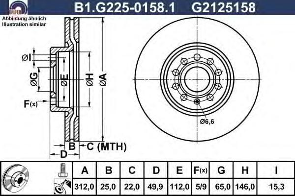 Диск тормозной Galfer B1G22501581B1G22501581