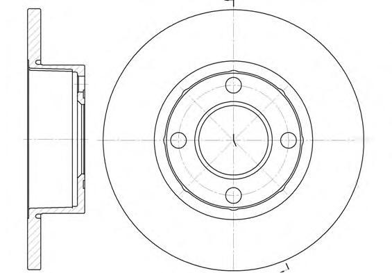 Диск тормозной переднийRoad HouseRoad House 617300 комплект 2 шт617300