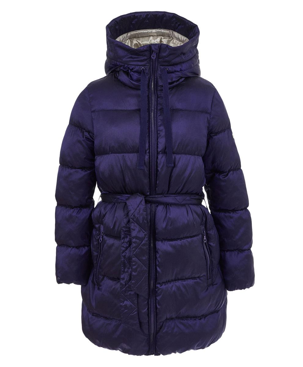 Пальто для девочки Button Blue, цвет: темно-синий. 217BBGC45031000. Размер 128, 8 лет рубашка для мальчика button blue цвет белый 217bbbc23010213 размер 128 8 лет