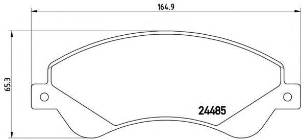 Колодки тормозные передние Brembo P24065P24065