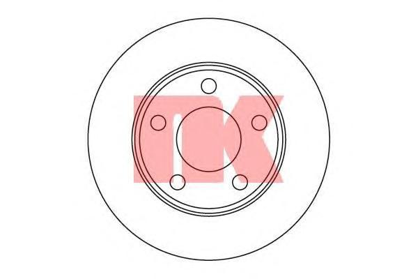 Диск тормозной NK 204784 комплект 2 шт204784