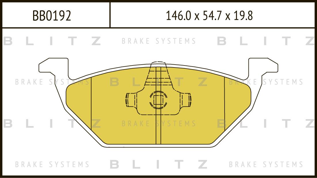 Колодки тормозные дисковые BLITZ автотовары BB0192BB0192