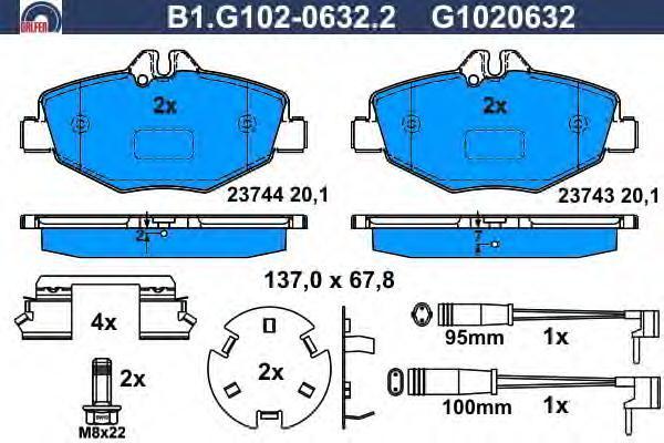 Колодки тормозные дисковые Galfer B1G10206322B1G10206322