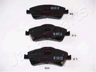 Колодки тормозные дисковые Japanparts PA244AFPA244AF