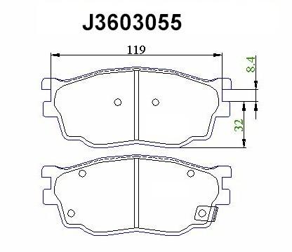 Колодки тормозные передние Nipparts J3603055J3603055
