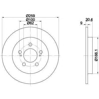 Диск тормозной задний Textar 9216410392164103