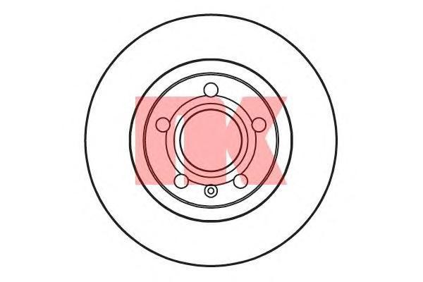 Диск тормозной NK 204762 комплект 2 шт204762
