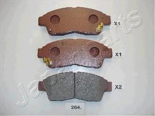 Колодки тормозные дисковые Japanparts PA264AFPA264AF