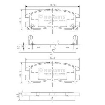 Колодки тормозные задние Nipparts J3615003J3615003