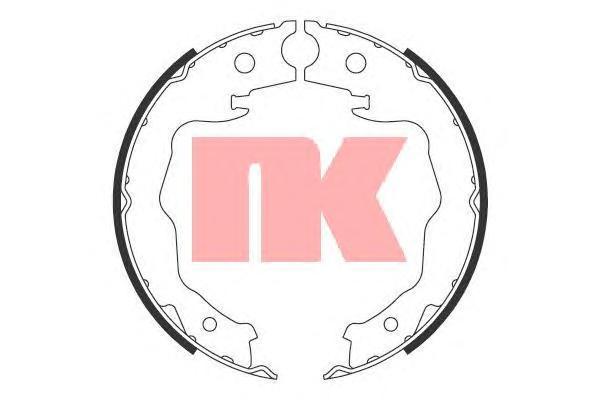 Колодки тормозные барабанные NK 27227772722777