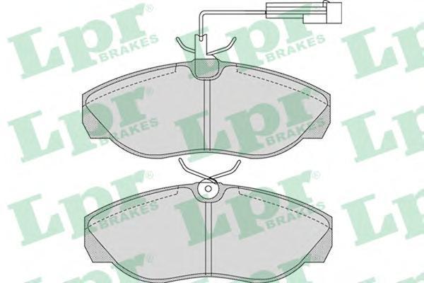 Колодки тормозные задние LPR / AP 05P96505P965