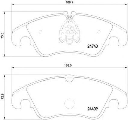 Колодки тормозные дисковые, комплект BEHR-HELLA 8DB3550137518DB355013751