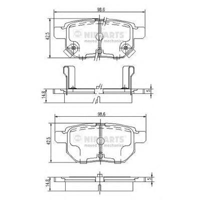 Колодки тормозные задние Nipparts J3612034J3612034