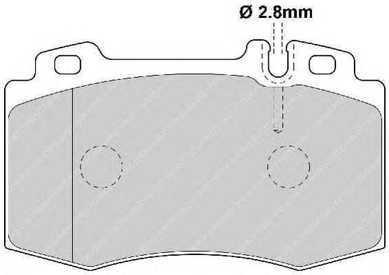 Колодки тормозные дисковые Premier Ferodo FDB1426FDB1426