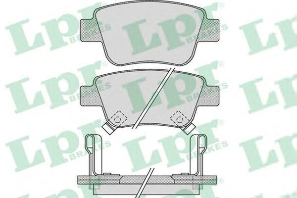 Колодки тормозные дисковые задние LPR / AP 05P111305P1113