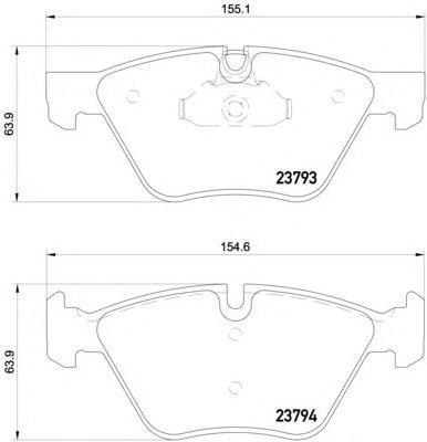 Колодки тормозные дисковые, комплект BEHR-HELLA 8DB3550150318DB355015031