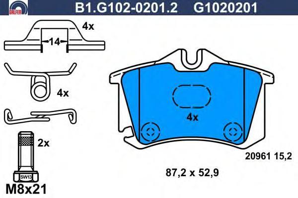 Колодки тормозные дисковые Galfer B1G10202012B1G10202012