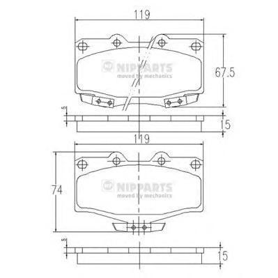 Колодки тормозные передние Nipparts J3602054J3602054