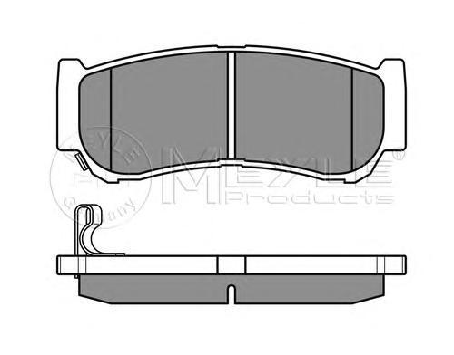 Колодки тормозные задние Meyle 0252448816W0252448816W