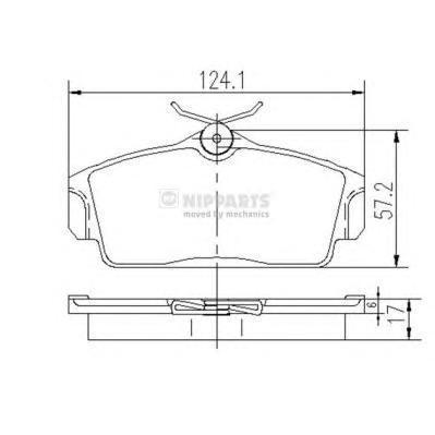 Колодки тормозные передние Nipparts J3601068J3601068