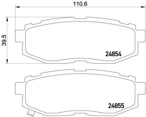 Колодки тормозные задние/датчик износа Textar 24854012485401