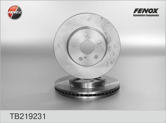 Диск тормозной Fenox TB219231 комплект 2 штTB219231