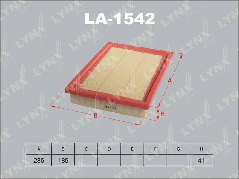 Фильтр воздушный Lynx LA1542LA1542