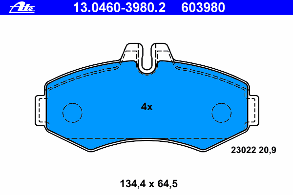 Колодки тормозные дисковые Ate 1304603980213046039802