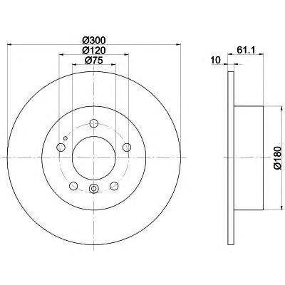 Диск тормозной задний Textar 9204230392042303
