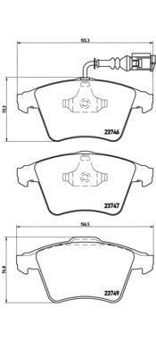 Колодки тормозные передние Brembo P85081P85081
